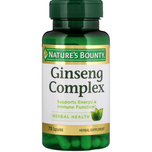Nature's Bounty, Ginseng Complex, 75 Capsules فوائد