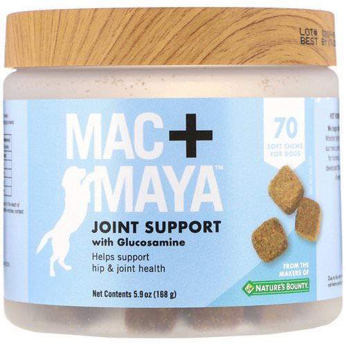 Nature's Bounty, Mac + Maya, Joint Support with Glucosamine, For Dogs, 70 Soft Chews فوائد