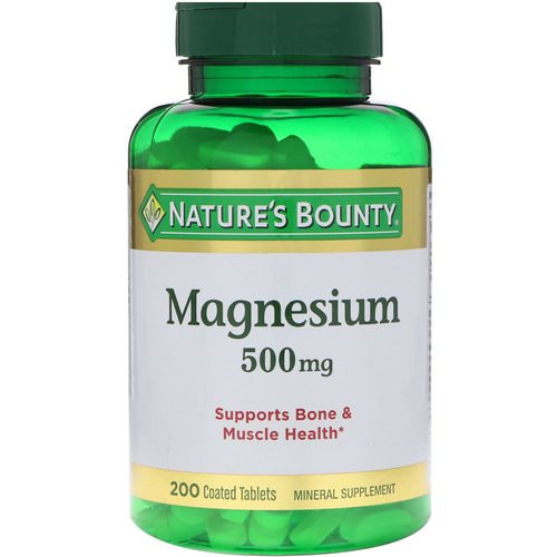Nature's Bounty, Magnesium, 500 mg, 200 Coated Tablets فوائد