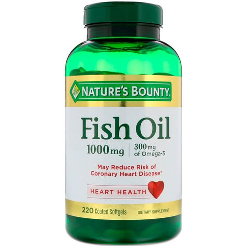 Nature's Bounty, Fish Oil, 1,000 mg, 220 Coated Softgels فوائد
