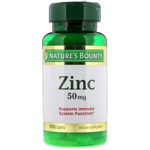 Nature's Bounty, Zinc, 50 mg, 100 Caplets فوائد