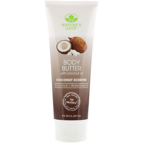 Nature's Gate, Body Butter, Coconut Scented, 8 fl oz (237 ml) فوائد