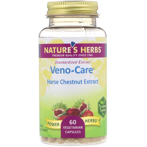 Nature's Herbs, Veno-Care, Horse Chestnut Extract, 60 Vegetarian Capsules فوائد