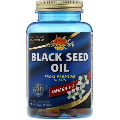 Nature's Life, Black Seed Oil, 1000 mg, 90 Softgels فوائد