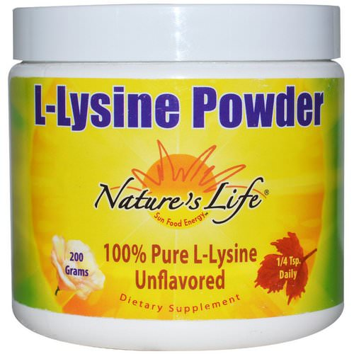 Nature's Life, L-Lysine Powder, Unflavored, 200 g فوائد