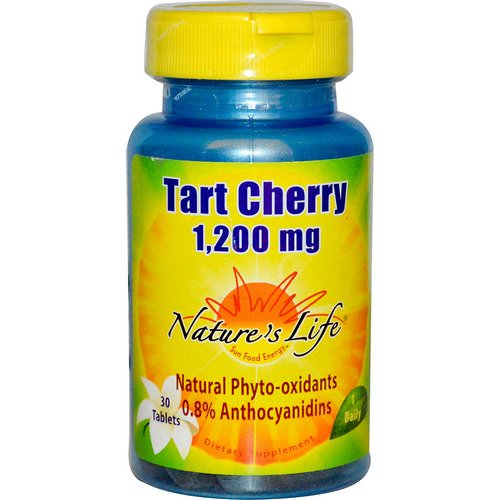 Nature's Life, Tart Cherry, 1,200 mg, 30 Tablets فوائد