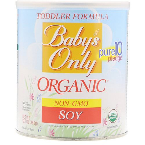 Nature's One, Baby's Only Organic, Toddler Formula, Soy, 12.7 oz (360 g) فوائد