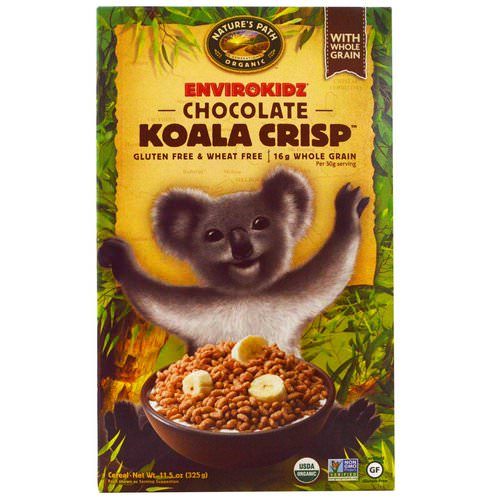 Nature's Path, EnviroKidz, Organic Chocolate Koala Crisp Cereal, 11.5 oz (325 g) فوائد