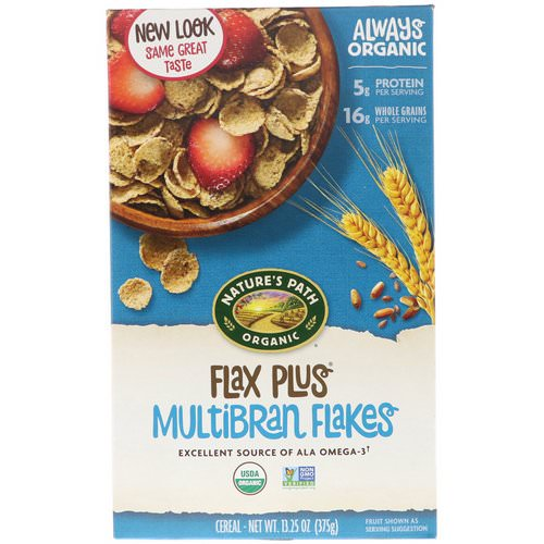 Nature's Path, Organic, Flax Plus Multibran Flakes Cereal, 13.25 oz (375 g) فوائد