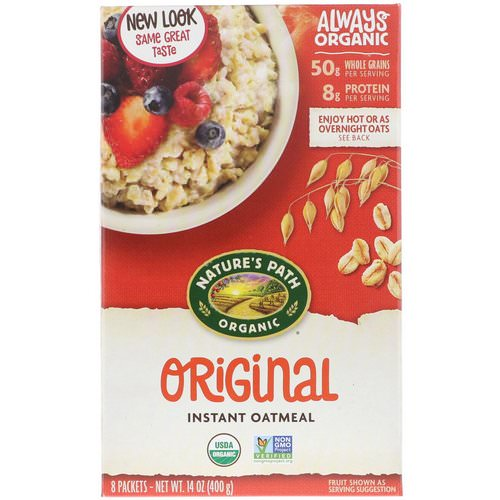 Nature's Path, Organic Instant Oatmeal, Original, 8 Packets, 14 oz (400 g) فوائد