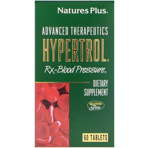 Nature's Plus, Advanced Therapeutics, Hypertrol, RX Blood Pressure, 60 Tablets فوائد
