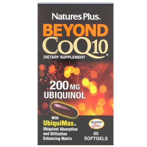 Nature's Plus, Beyond CoQ10, Ubiquinol, 200 mg, 60 Softgels فوائد