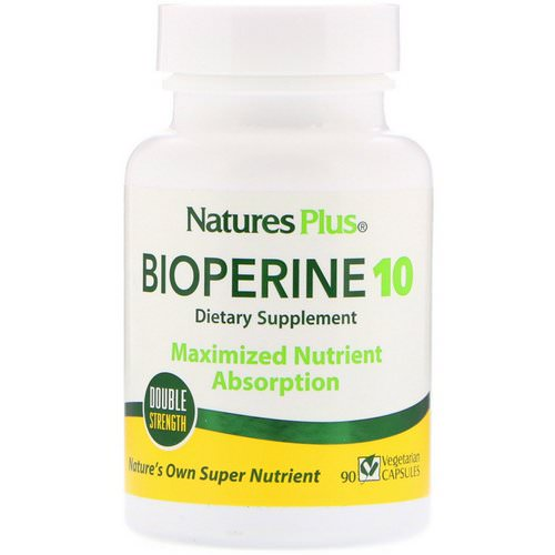 Nature's Plus, Bioperine 10, 90 Vegetarian Capsules فوائد