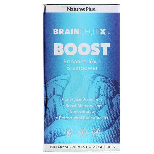 Nature's Plus, Brainceutix, Boost, 90 Capsules فوائد