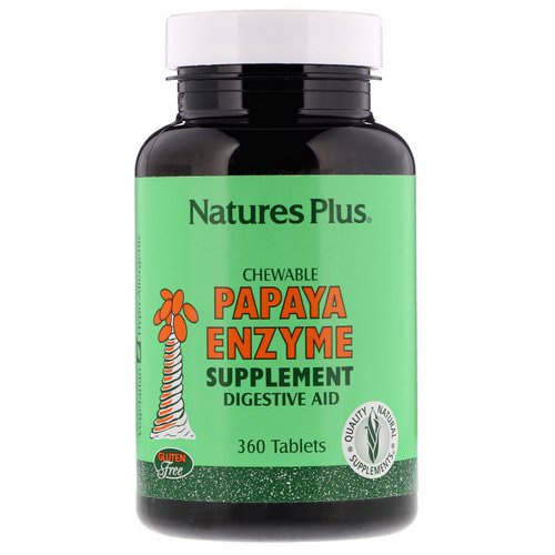 Nature's Plus, Chewable Papaya Enzyme Supplement, 360 Tablets فوائد