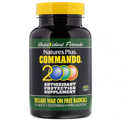 Nature's Plus, Commando 2000 Antioxidant Protection, 90 Tablets فوائد