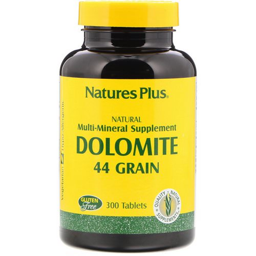 Nature's Plus, Dolomite, 44 Grain, 300 Tablets فوائد