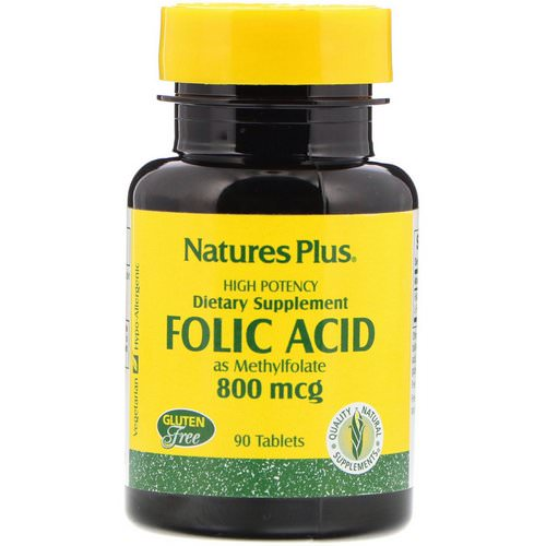 Nature's Plus, Folic Acid, 800 mcg, 90 Tablets فوائد