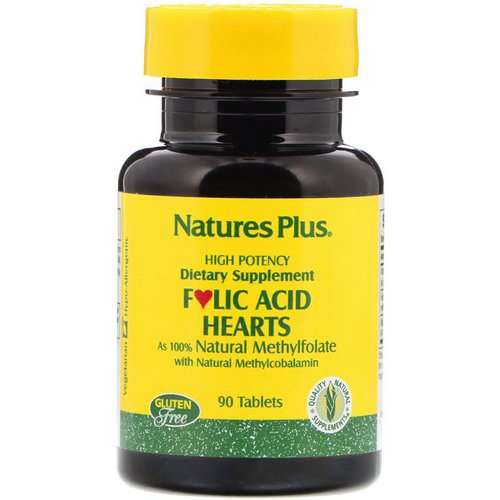 Nature's Plus, Folic Acid Hearts, 90 Tablets فوائد