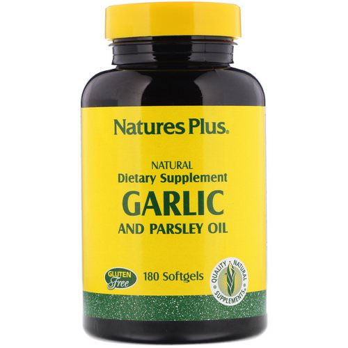 Nature's Plus, Garlic and Parsley Oil, 180 Softgels فوائد