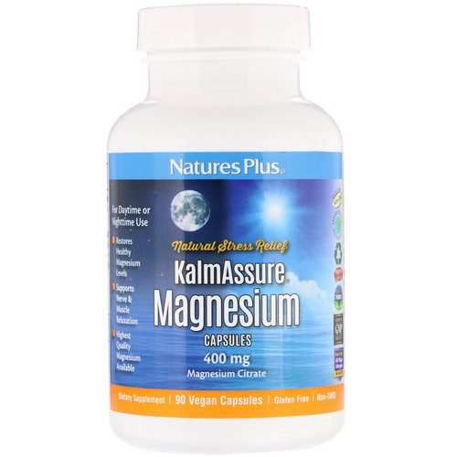 Nature's Plus, Kalmassure, Magnesium, 400 mg, 90 Vegan Capsules فوائد