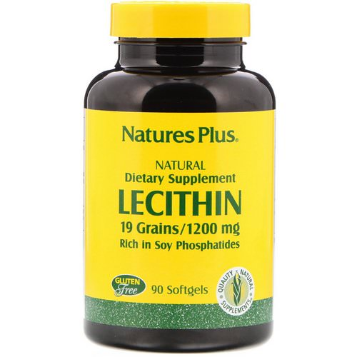 Nature's Plus, Lecithin, 1,200 mg, 90 Softgels فوائد