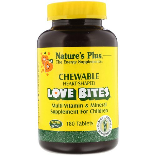 Nature's Plus, Love Bites Multi-Vitamin & Mineral, Supplement For Children, 180 Tablets فوائد