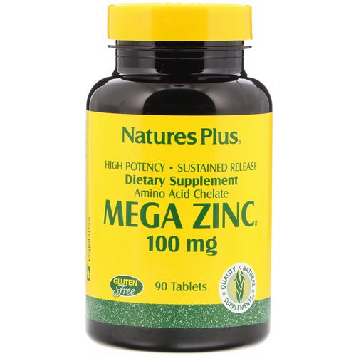 Nature's Plus, Mega Zinc, 100 mg, 90 Tablets فوائد