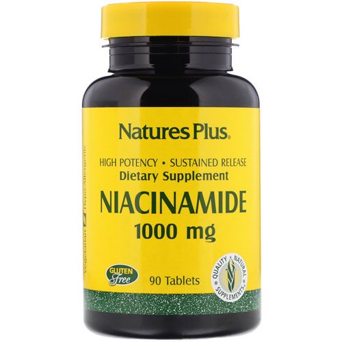 Nature's Plus, Niacinamide, 1000 mg, 90 Tablets فوائد