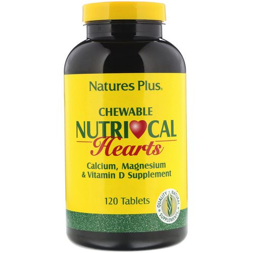 Nature's Plus, Nutri-Cal Hearts, Chewable, 120 Tablets فوائد