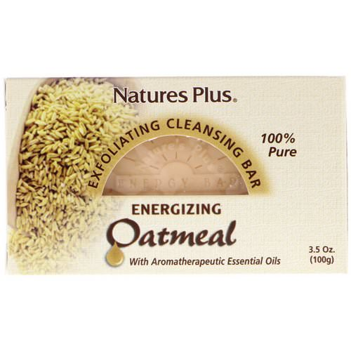 Nature's Plus, Oatmeal Exfoliating Cleansing Bar, 3.5 oz. (100 g) فوائد