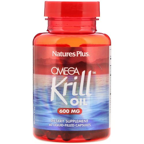 Nature's Plus, Omega Krill Oil, 600 mg, 60 Liquid-Filled Capsules فوائد
