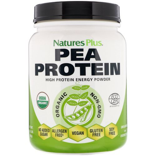 Nature's Plus, Organic Pea Protein Powder, 1.10 lbs (500 g) فوائد