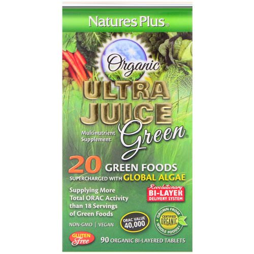Nature's Plus, Organic Ultra Juice Green, 90 Organic Bi-Layered Tablets فوائد