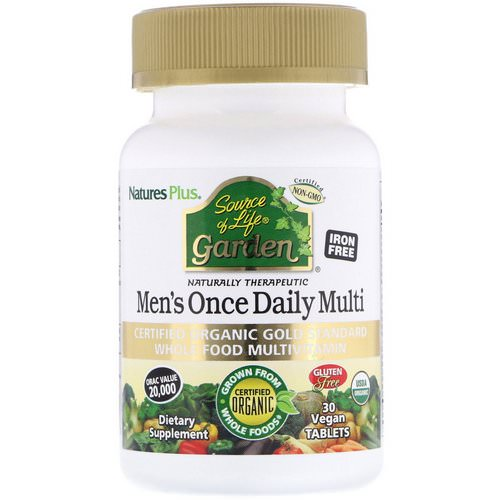 Nature's Plus, Source of Life Garden, Men's Once Daily Multi, 30 Vegan Tablets فوائد
