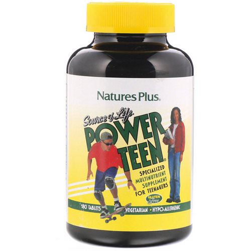 Nature's Plus, Source of Life, Power Teen, 180 Tablets فوائد
