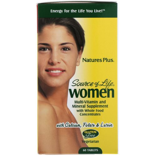 Nature's Plus, Source of Life, Women, Multi-Vitamin and Mineral Supplement with Whole Food Concentrates, 60 Tablets فوائد