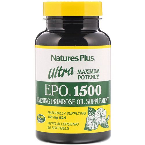 Nature's Plus, Ultra EPO 1500, Maximum Potency, 60 Softgels فوائد