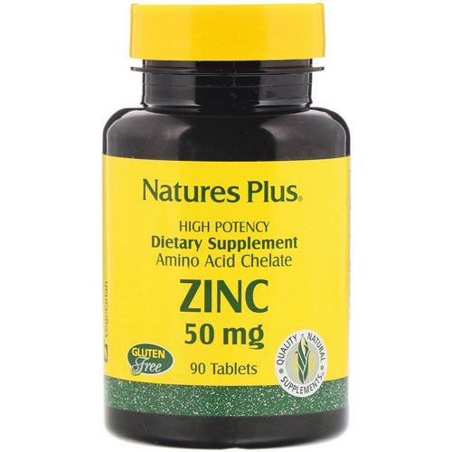 Nature's Plus, Zinc, 50 mg, 90 Tablets فوائد