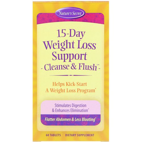 Nature's Secret, 15-Day Weight Loss Support, Cleanse & Flush, 60 Tablets فوائد