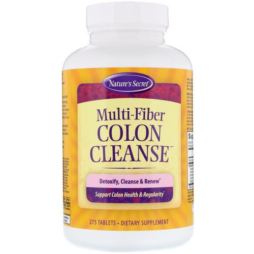 Nature's Secret, Multi-Fiber Colon Cleanse, 275 Tablets فوائد