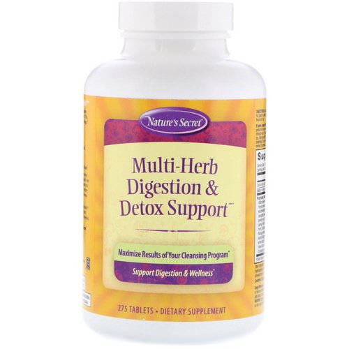 Nature's Secret, Multi-Herb Digestion & Detox Support, 275 Tablets فوائد