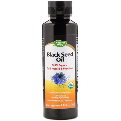 Nature's Way, 100% Organic Black Seed Oil, 8 fl oz (235 ml) فوائد