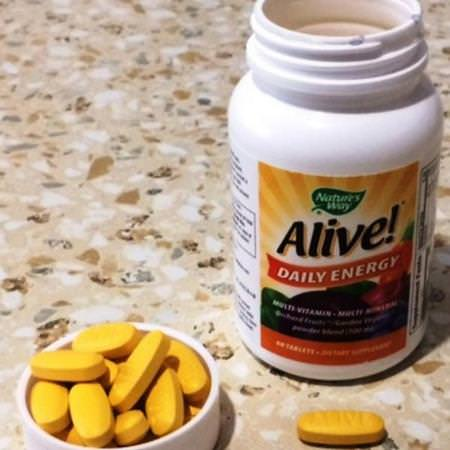 Nature's Way, Alive! Daily Energy, Multivitamin-Multimineral, 60 Tablets