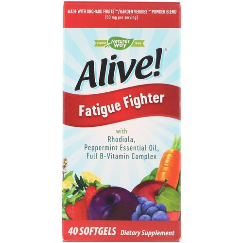 Nature's Way, Alive! Fatigue Fighter, 40 Softgels فوائد