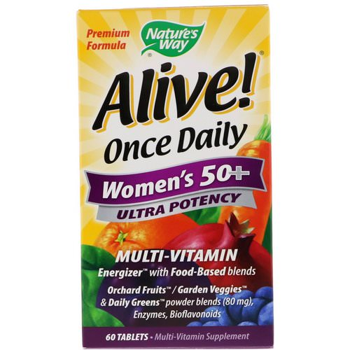 Nature's Way, Alive! Once Daily, Women's 50+ Multi-Vitamin, 60 Tablets فوائد