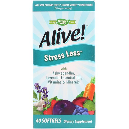 Nature's Way, Alive! Stress Less, 40 Softgels فوائد