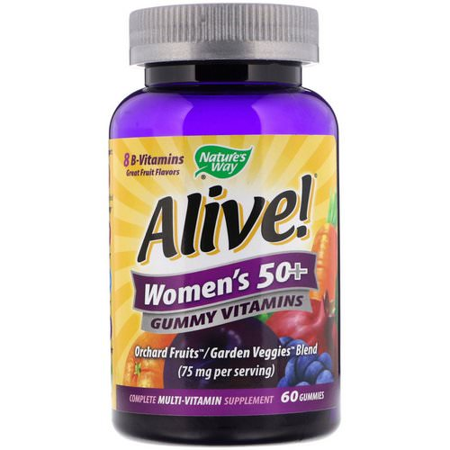 Nature's Way, Alive! Women's 50+ Gummy Vitamins, Fruit Flavors, 60 Gummies فوائد