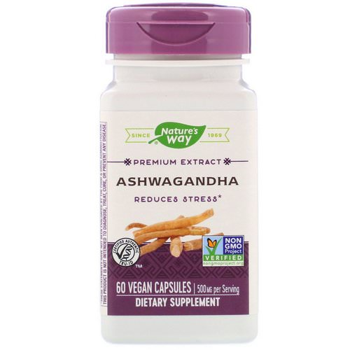 Nature's Way, Ashwagandha, 500 mg, 60 Vegan Capsules فوائد