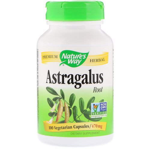 Nature's Way, Astragalus Root, 470 mg, 100 Vegetarian Capsules فوائد